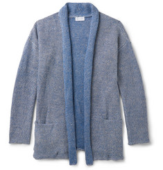 John Elliott Shawl-Collar Mélange Linen and Cotton-Blend Cardigan