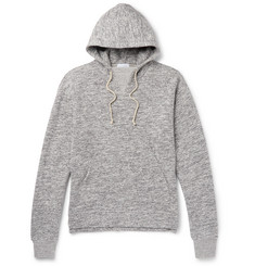 John Elliott Kake Mock Mélange Fleece-Back Cotton-Blend Hoodie