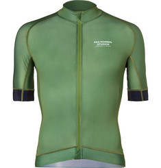 Pas Normal Studios Mechanism Perforated Zip-Up Cycling Jersey