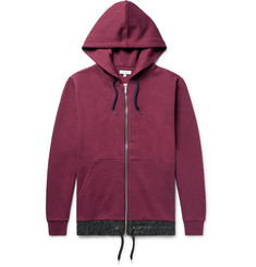 Public School Langston Oversized Shell-Trimmed Cotton-Jersey Zip-Up Hoodie