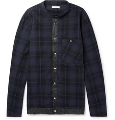 Public School - Shell-Trimmed Plaid Cotton Shirt