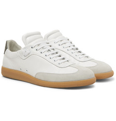 Public School Otto Nubuck and Suede-Trimmed Leather Sneakers