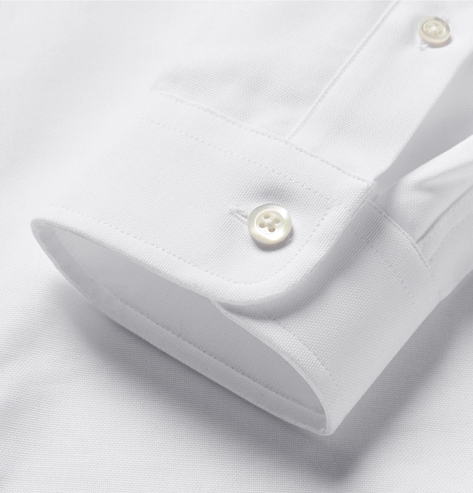 44828d14e40 AMI - Slim-Fit Button-Down Collar Cotton Oxford Shirt