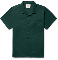 Noon Goons - Slim-Fit Camp-Collar Cotton-Twill Shirt