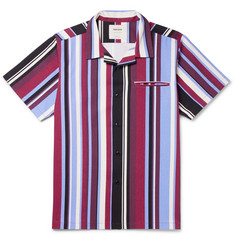 Noon Goons Camp-Collar Striped Cotton-Twill Shirt