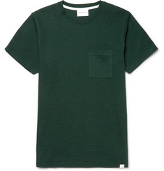 Norse Projects - Niels Waffle-Knit Cotton-Jersey T-Shirt
