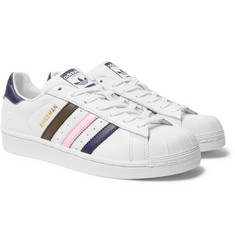 Kingsman - + adidas Originals Superstar Numbered Leather Sneakers