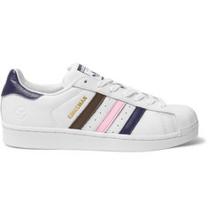 Kingsman + adidas Originals Superstar Numbered Leather Sneakers