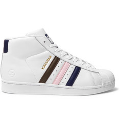Kingsman + adidas Originals Superstar Pro Numbered Leather High-Top Sneakers