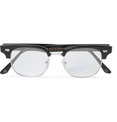 Kingsman + Cutler and Gross Merlin's Square-Frame Acetate and Silver-Tone Optical Glasses