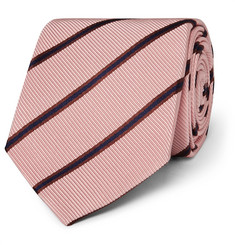 Kingsman - + Drake's 8.5cm Striped Silk and Cotton-Blend Faille Tie
