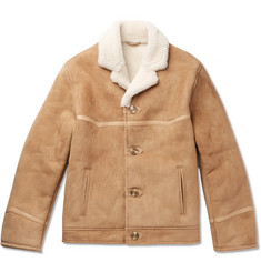 Kingsman Tequila's Statesman Leather-Trimmed Shearling Bomber Jacket