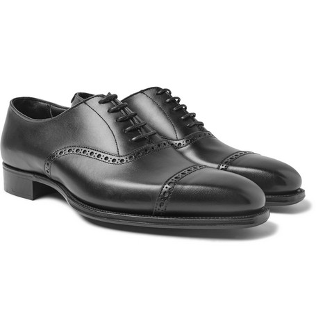 + George Cleverley Eggsy's Leather Oxford Brogues - Black