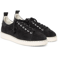 Golden Goose Deluxe Brand Starter Leather-Trimmed Suede Sneakers