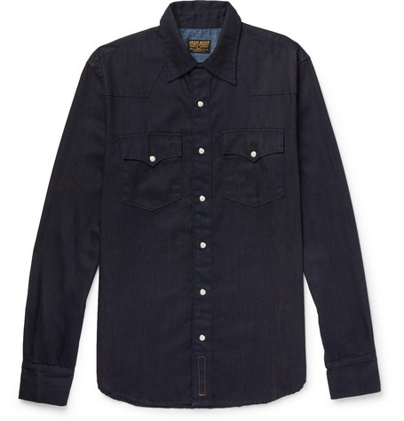 Cheap Sale Find Great Stockist Online + Jean Shop Statesman Selvedge Denim Shirt Kingsman Cheap Sale 2018 New Clearance High Quality Free Shipping Original 6fergH