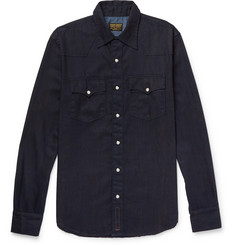 Kingsman-+ Jean Shop Statesman Selvedge Denim Shirt