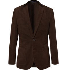 J.Crew Brown Winnitex Slim-Fit Cotton-Corduroy Blazer