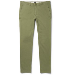 J.Crew - 770 Slim-Fit Herringbone Brushed Stretch-Cotton Trousers