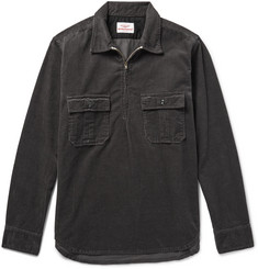 Battenwear - Garage Cotton-Corduroy Half-Zip Overshirt