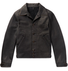 Kingsman + Mister Freedom Jack's Statesman Corduroy-Trimmed Leather Jacket