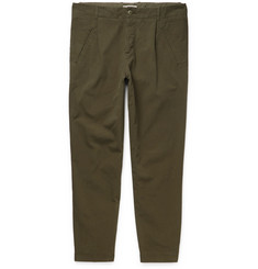 Folk - Assembly Tapered Garment-Dyed Cotton-Canvas Trousers