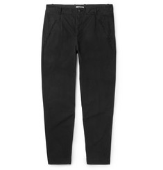 Folk Assembly Tapered Garment-Dyed Cotton-Ripstop Trousers