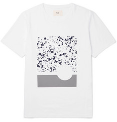 Folk Sulka Printed Cotton-Jersey T-Shirt