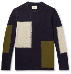 Folk Colour-Block Wool-Blend Sweater