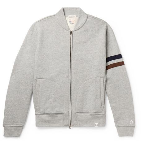 Kingsman + Todd Snyder + Champion Harry's Fleece-back Cotton-blend Jersey Zip-up Sweatshirt - Gray