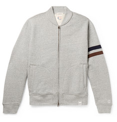 Kingsman + Todd Snyder + Champion Harry's Fleece-Back Cotton-Blend Jersey Zip-Up Sweatshirt