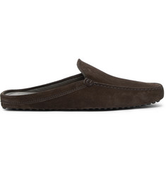 Tod's Gommino Suede Backless Loafers
