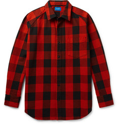 Beams Buffalo Checked Cotton-Twill Shirt