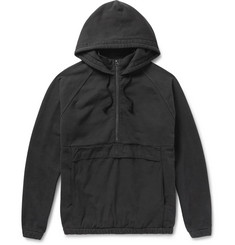 Beams - Ripstop-Panelled Cotton-Jersey Hooded Anorak