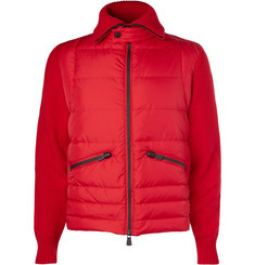 Moncler Grenoble Panelled Wool-Blend Down Jacket