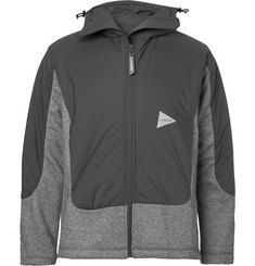And Wander Fleece and Shell Primaloft Hooded Jacket