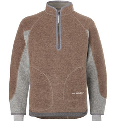 And Wander Wool-Blend Fleece Half-Zip Sweater
