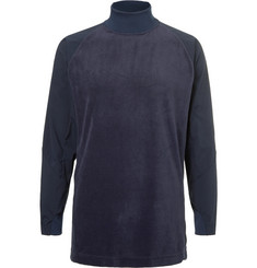 And Wander Shell-Panelled Fleece Base Layer