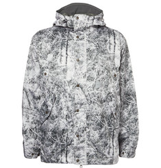 And Wander White Forest Printed Shell Jacket