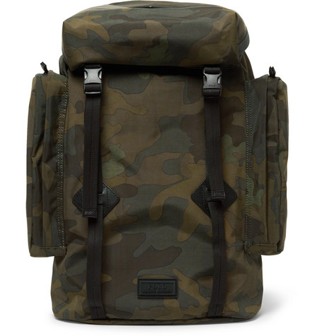 1a8b6d9f017 Polo Ralph Lauren Leather-Trimmed Camouflage-Print Canvas Backpack In Green