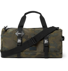 Polo Ralph Lauren Leather-Trimmed Camouflage-Print Canvas Duffle Bag