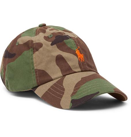 515689d861b Polo Ralph Lauren Camouflage-Print Cotton Baseball Cap In Green ...