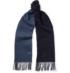 Polo Ralph Lauren - Reversible Fringed Wool-Blend Scarf