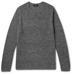 Theory Enzo Ribbed Mélange Cashmere Sweater