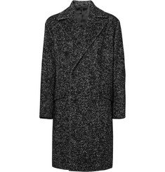 Theory - Oversized Double-Breasted Herringbone Wool-Blend Bouclé Overcoat