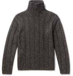 Mélange Merino Wool Blend Rollneck Sweater by Theory