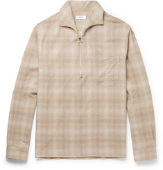 CMMN SWDN Checked Cotton and Wool-Blend Shirt