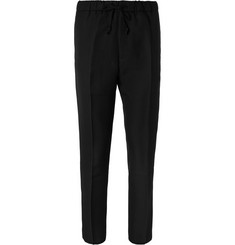 CMMN SWDN Stan Slim-Fit Cropped Wool Drawstring Trousers