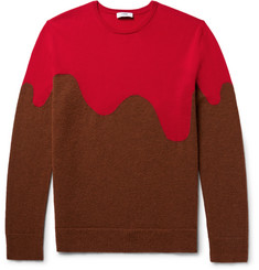 CMMN SWDN Two-Tone Merino Wool-Blend Sweater