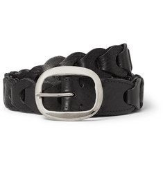 CMMN SWDN - 3cm Black Woven Leather Belt
