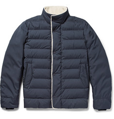 Loro Piana - Shearling-Trimmed Quilted Nylon Down Jacket